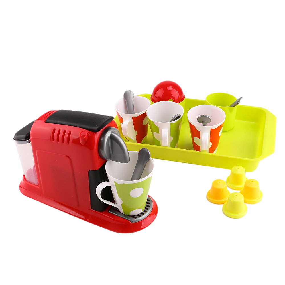 21-pieces Simulation Coffee Maker Playset Mini Home Appliances Pretend Play Toys For Kids Toddler