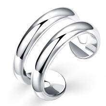 Resizable Silver Plated Ring