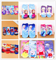 2 pairs Cute cartoon Printed anna elsa princess car spider pink pig kids Socks  children's Casual Cotton boat  sock for girl boy