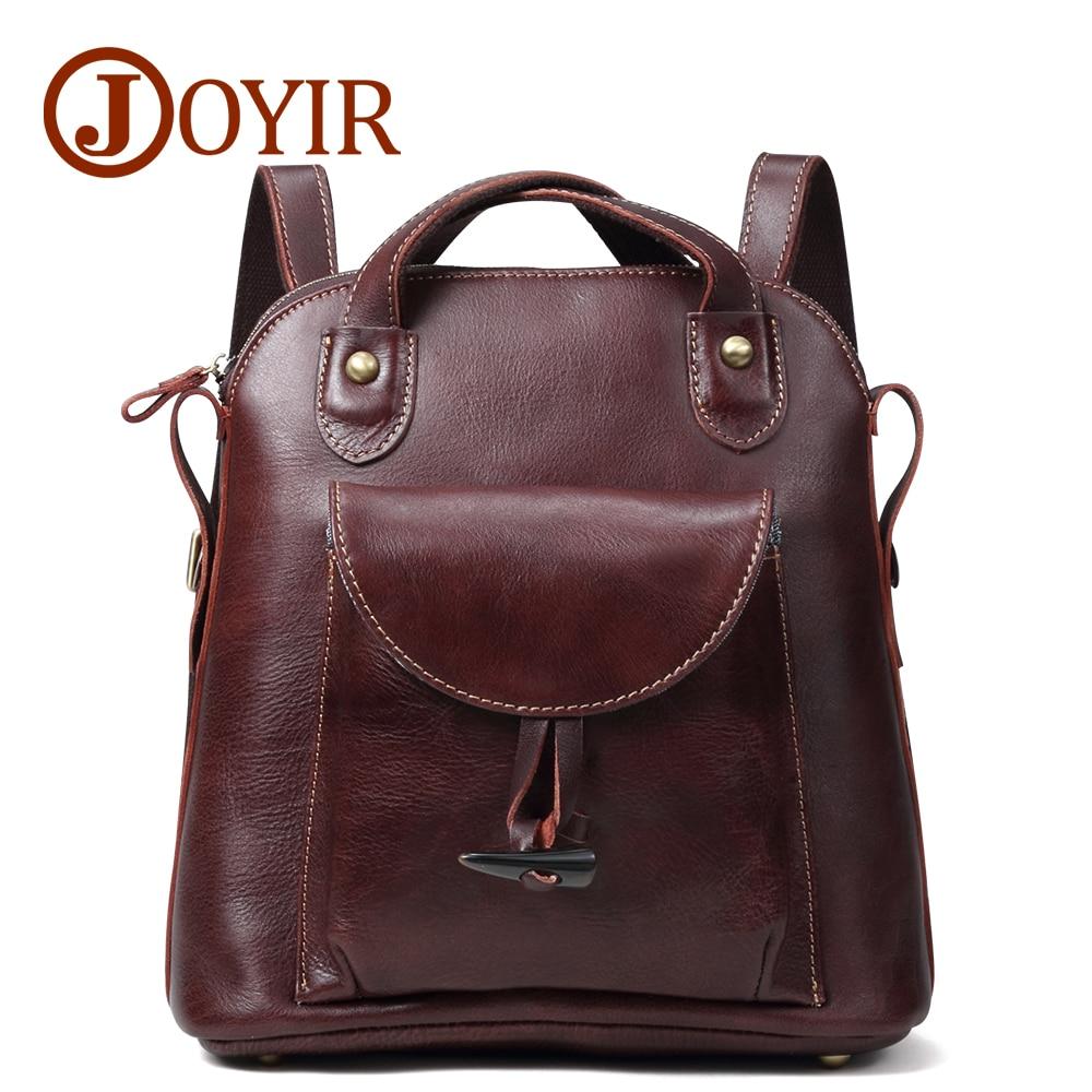 JOYIR Women's Backpack Genuine Leather Vintage School bags for Teenagers Girls Female Backpacks Women Travel Backpack Bags 3011 цена