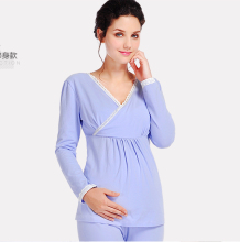 Autumn and Winter Women Big Size Full Sleeve Pregnant Clothes Maternity Sleepwear Cotton Maternal Nursing Breastfeeding Pajamas