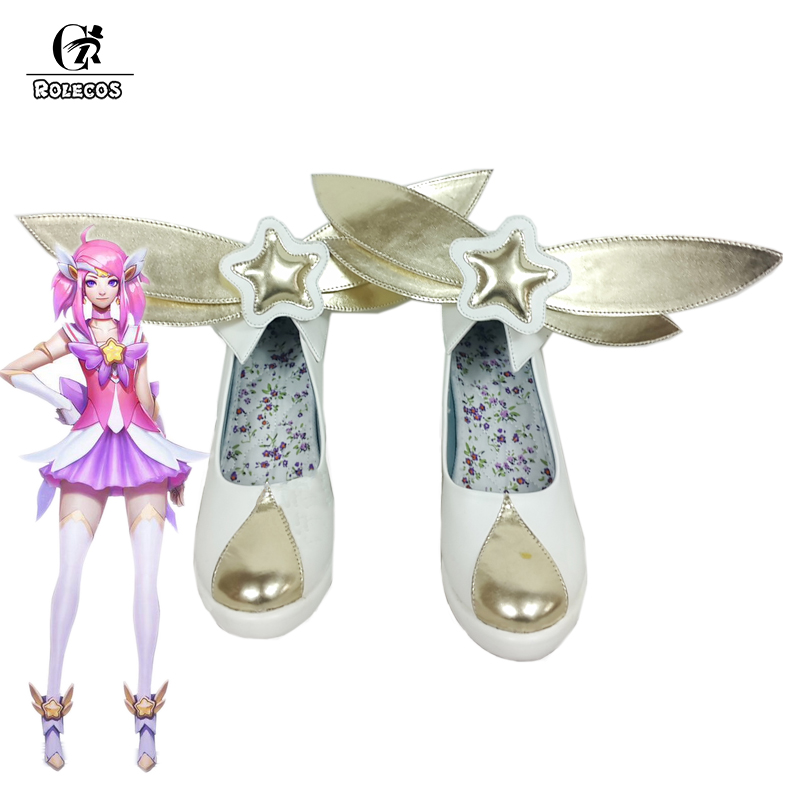 ROLECOS LOL Lux Cosplay Shoes The Lady Of Luminosity Shoes Magical Girl Cosplay Game Shoes