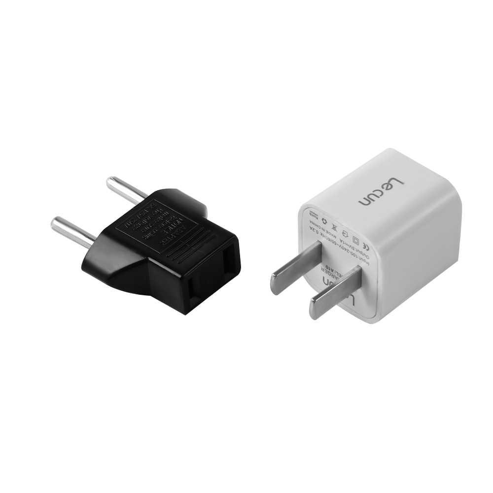 1/2 sztuk czarny przydatne moda nowy US usa do euro ue europa Adapter wtyczka ac 2 okrągłe gniazdo kołkowe Adapter podróżny