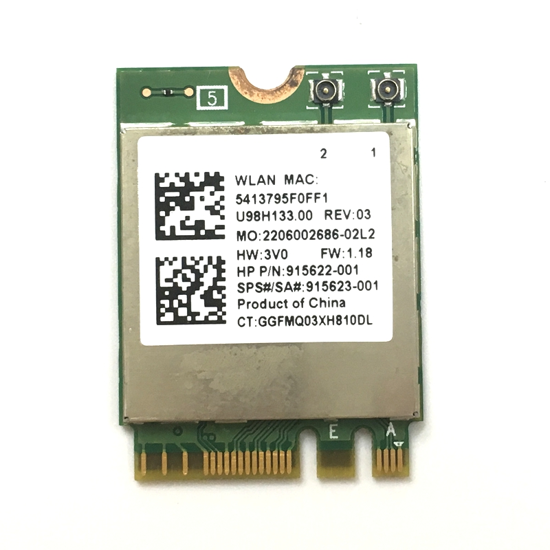 WDXUN Realtek RTL8822BE 802.11AC 2.4G/5GHz WiFi Bluetooth 4.1 NGFF Wireless Adapter M.2 WIFI CARD