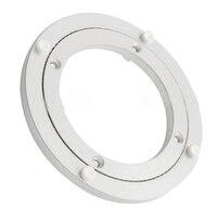 Aluminium Rotating Turntable Bearing Swivel Plate 5 Inch Silver
