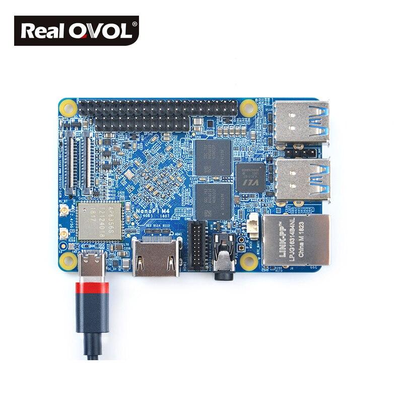 Image 3 - RealQvol FriendlyARM NanoPi M4 2GB/4GB DDR3 Rockchip RK3399 SoC 2.4G & 5G dual band WiFi+Bluetooth 4.1 supports Ubuntu Android-in Demo Board from Computer & Office