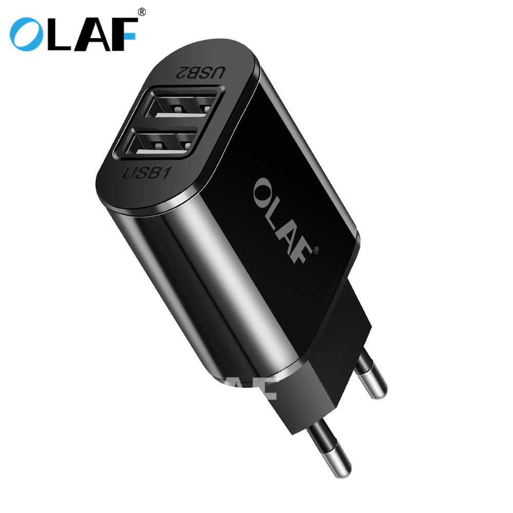 OLAF Phone Charger <font><b>5V</b></font> 2A 2 <font><b>USB</b></font> EU Plug Travel Wall Charger Adapter For iPad iPhone X 7 Plus Samsung S9 For Xiaomi Mobile Phone image