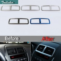 1 PCS Car DIY NEW Stainless Steel Five Style The Control Vent Light Box Cover For