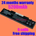 Jigu 4400 mah 6 células preto bateria para samsung aa-pb9nc6b aa-pb9ns6b aa-pb9nc6w aa-pl9nc6w r468 r458 r505 r522 r540 r530 r510