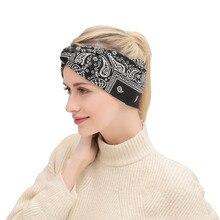 Bohemian Style Hairband For Women Geometric Cashew Print Retro Cross Knot Turban Bandage Bandanas Headwear Hair Accessories цена и фото