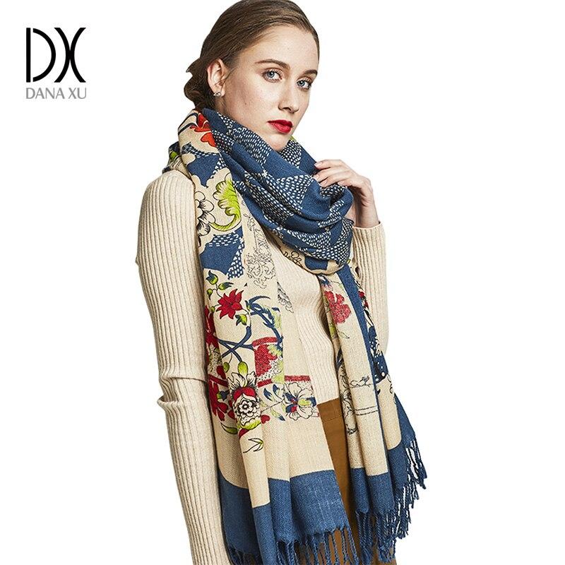 New Winter   Scarf   for Women Luxury Brand Pashmina Cashmere Poncho Blanket   Scarf     Wrap   Wool   Scarf   Women Bandana Muslim Hijab Shawl