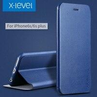 X-Level Biznes styl klapki skóra telefon case dla apple iphone 6 6 s 6 plus 6 s plus luksusowe skrzynki pokrywa