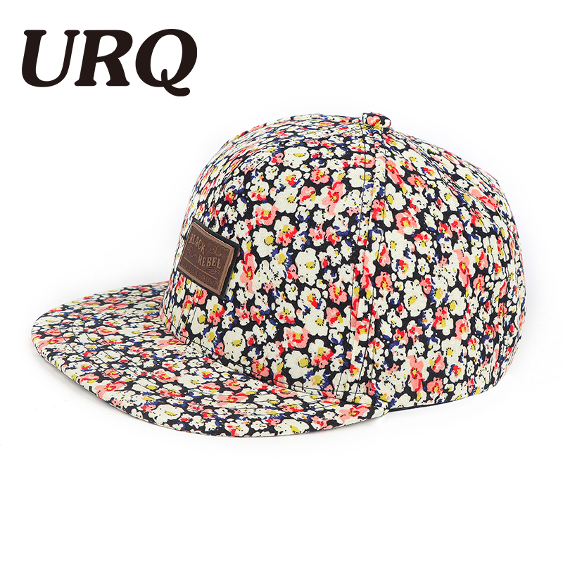 URQ Snapback hip hop Caps For Woman Man Summer hats Women Floral cap Spring Baseball hats Adjustable Outdoor hiphop cap ZZ4049 fashion baseball cap crystal rhinestone floral woman snapback hats denim jeans hip hop women cowboy baseball cap