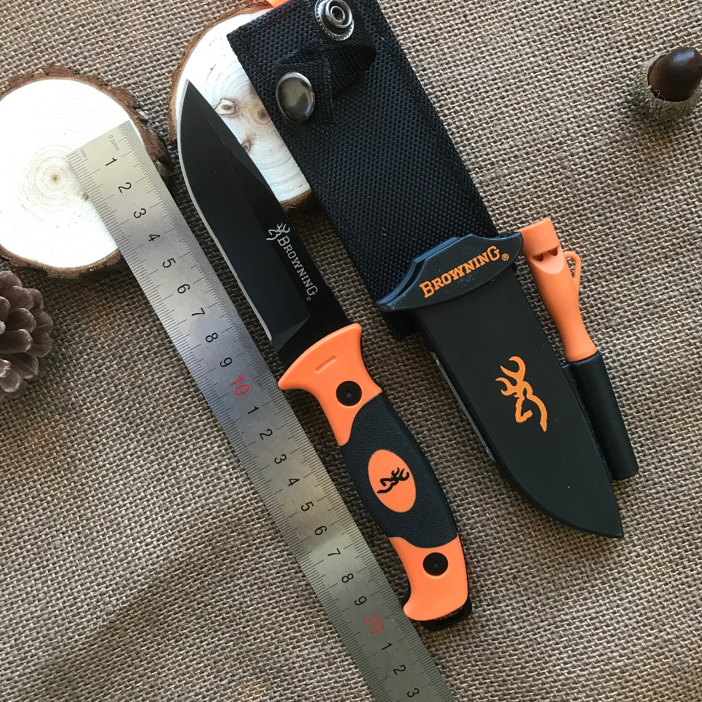 Browning Fixed Blade Knife 7Cr15Mov Blade Tactical Knife,EDC Camping Tools,Survival Knives,Straight Knives,Outdoor Tool browning oem 331 drop browning knife