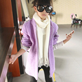 little teenage girls coat thick long kids girls jackets warm purple white outwear long sleeve zipper autumn winter kids clothes