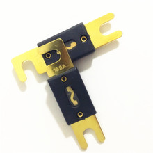 20pcs/lot Good Quality Golden Plated Automotive Motorcycle Car ANL Blade Fuse 150A