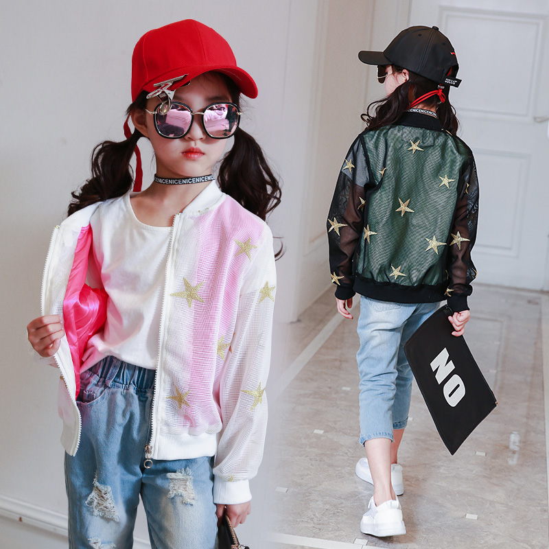 Baby Breathable Clothes Stars Pattern Girls Boys Jackets Coats Toddler Kids Jacket Outwear Baseball Windproof Children Clothe