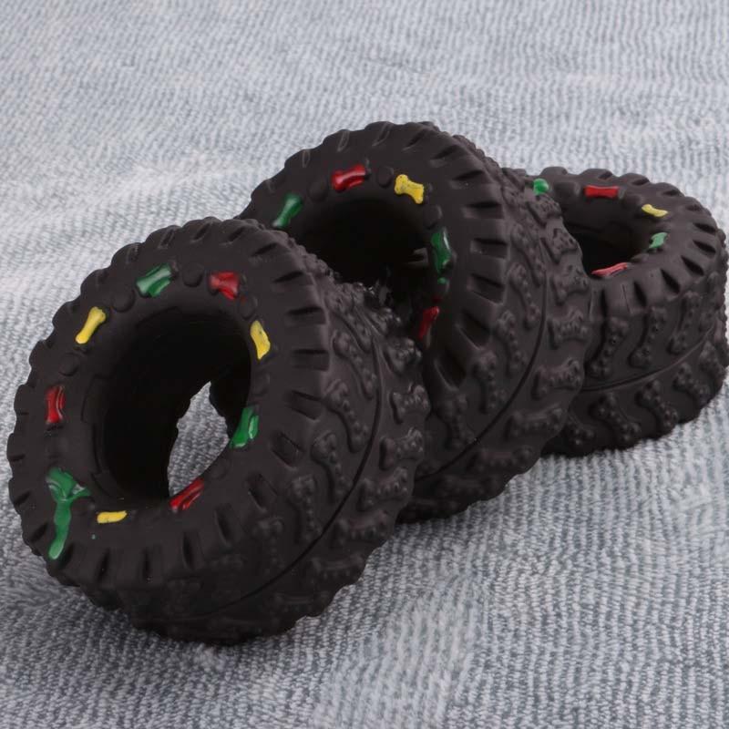 OnnPnnQ Elasticity Tire Dog Cat Toy Squeak Sound Chew Treat Holder Funny Puppy Training molar Toys Dog Interactive Pet Supplies3