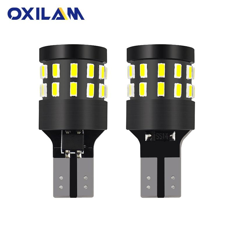 OXILAM 2x T15 LED Canbus White Reverse Light W16W 921 912 for BMW E60 E90 F10 Audi A4 B6 B8 Car Auto Bulb Backup Exterior Lights амортизаторы bilstein e90 b6
