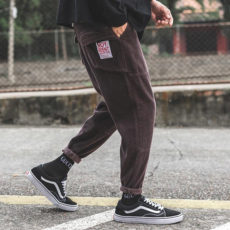 2018 Herbst Neue Jugend Mode Japanische Männer Farbe Passende Big Größe Entspannt Trend Von Teenagers' Füße Casual Hosen Um Jeden Preis