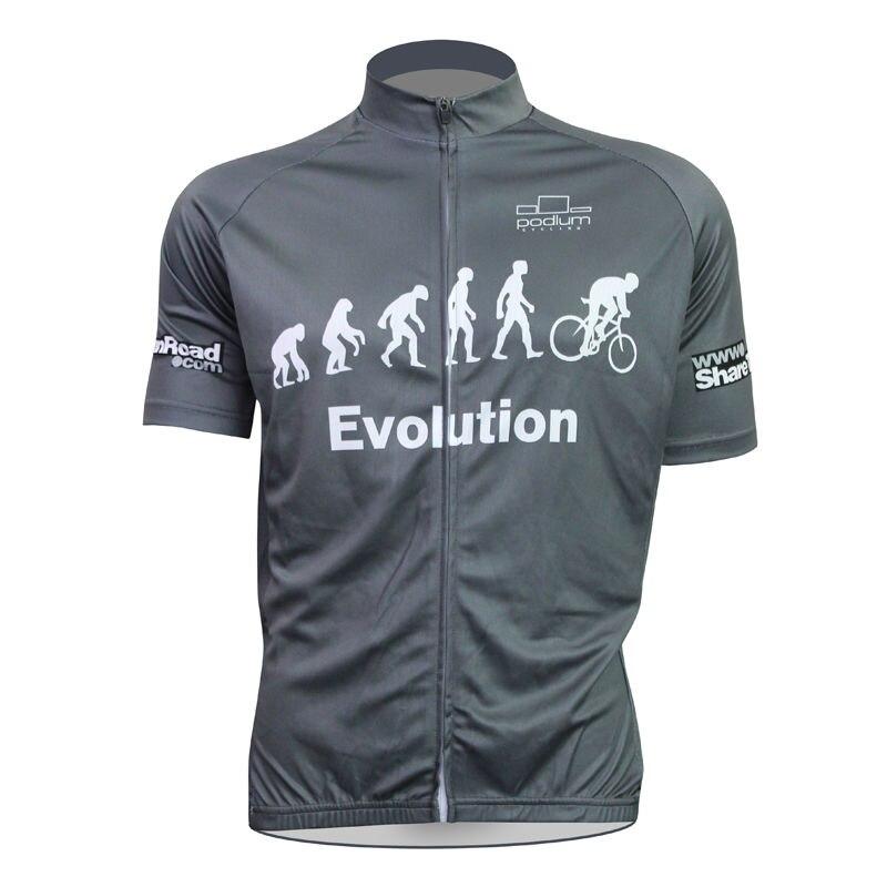 ФОТО Alien SportsWear Evolution Pattern Men Summer top Sleeve Cycling Apparel Black bike top Quick Dry Bicycle Clothing