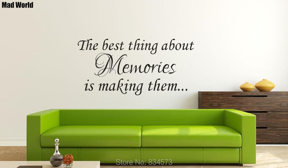 The Best Thing About Memories Is Making Them Wall Art Stickers Wall Decals Home DIY Decoration Removable Decor Wall Stickers