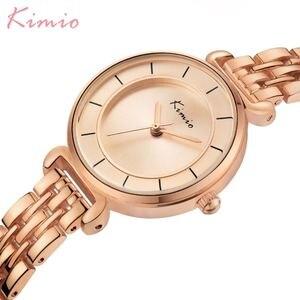 Image 2 - Kimio Gold Watch Women Watches Ladies Creative Steel Womens Bracelet Watches Female Clock Relogio Feminino Montre Femme