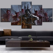 5 Piece Fantasy Knight Canvas Painting Modern HD Print Artwork Decor Living Room Bedroom Or Office Wall Framework Frameless