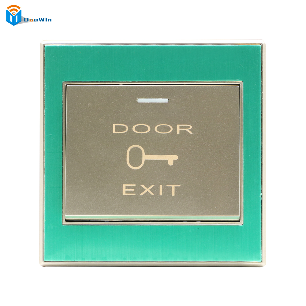 Exit Button Strong Material Exit Push Release Button Switch For Door Access Control Electric magnetic Lock Access Control Douwin exit button white plastic exit push release button switch for door access control electric magnetic lock access control winte