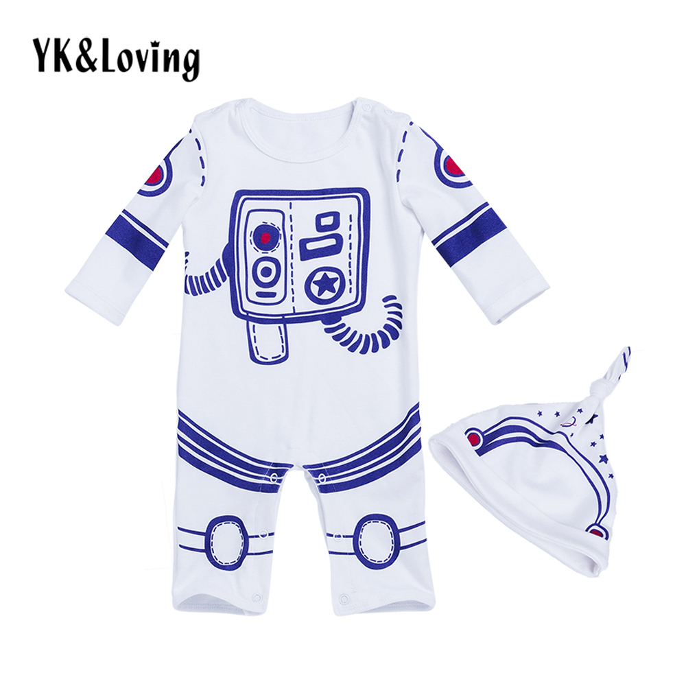 Space Suit Baby Boy Clothing Sets Long Sleeve Romper + Hat 2 pcs Cotton O-neck Toddler Boys Clothes Set Children Outwear wi fi роутер tp link tl wr842n 300 мбит с пластик цвет белый