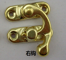 10Pcs gold Jewelry Box Hasp Latch Lock 49*39mm with Screws