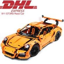 2017 New 2704Pcs Technic Figures GT3RS Race Car Model Building Kits Blocks Bricks Christmas Toys For Children Compatible 42056