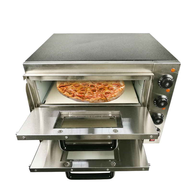 Newest high quality double layer pizza oven for commercial or home use for making various delicious food as egg tart cake pizza pizza group compact m35 17