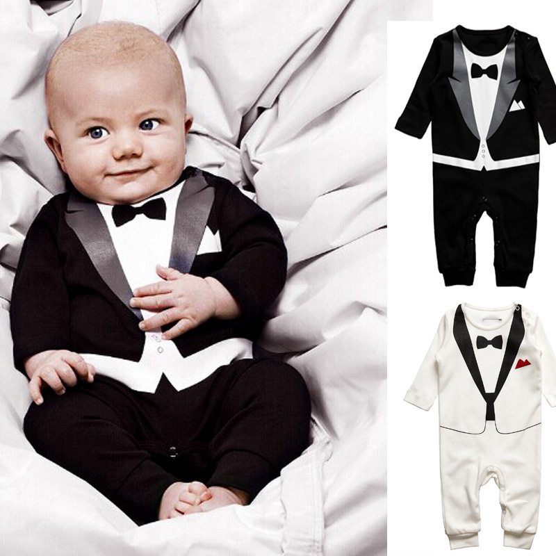 5bf77c7d5 Hot Retail Baby Boys Romper Suit Set Infant Toddler Cotton Long ...