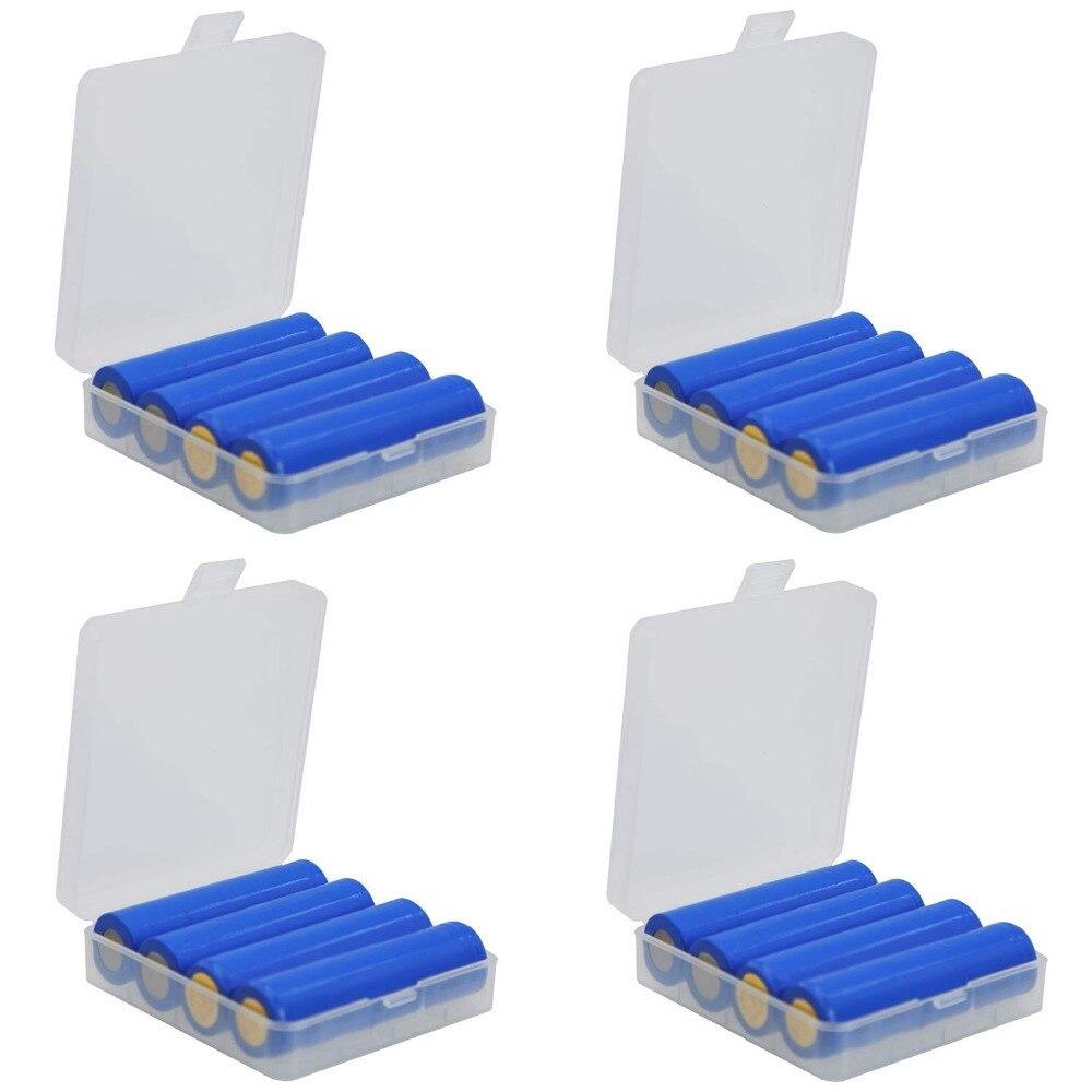 New Hard Portable Plastic Storage Box Case Holder For 4 X 18650 Battery Hot 18Jan04 Drop Ship