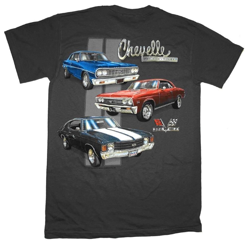New 8 Colors Round Neck Summer Cotton Fitness Clothing Classic Car Fans Chevelle Classic Car Lineup Automobile Men T Shirts