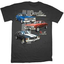 New 8 Colors Round Neck Summer Cotton Fitness Clothing Classic Car Fans Chevelle Classic Car Lineup