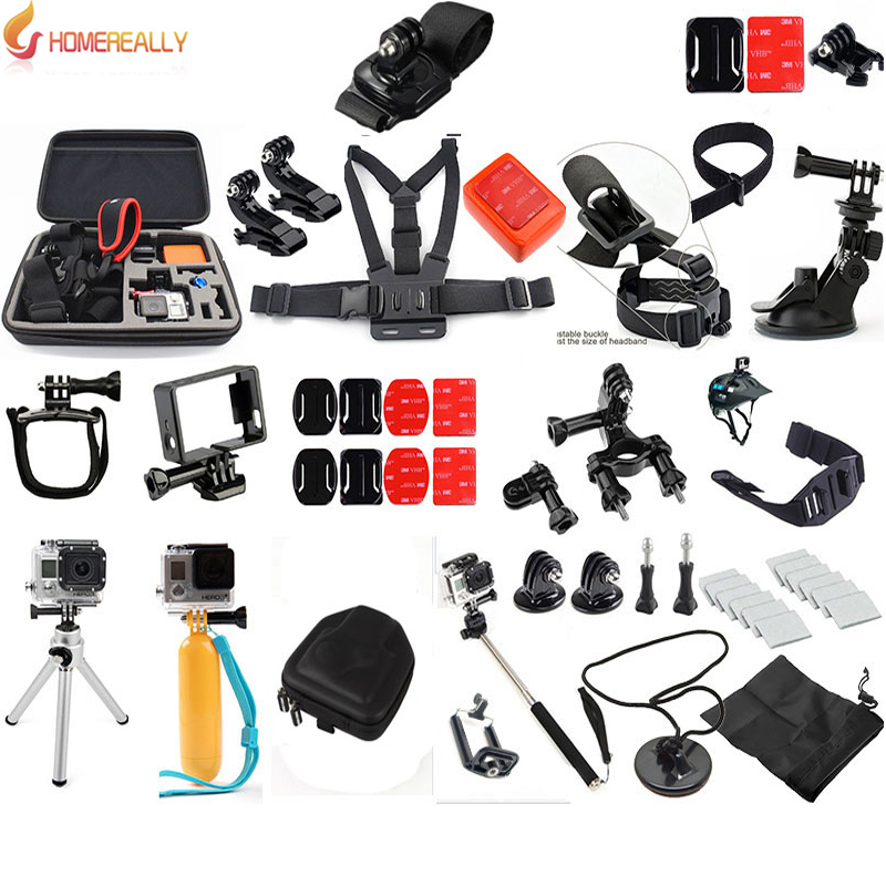 Gopro Accessories Set Family Kit For Sony HDR-AS30V HDR-AS100V AS200V AS20V SJ4000 SJ5000 SJ6000 Gopro Hero 5/4/3+/3 Action Cam электроника for sony 100% hdr sr11e hdr sr12e hdr xr500e hdr xr520e sony