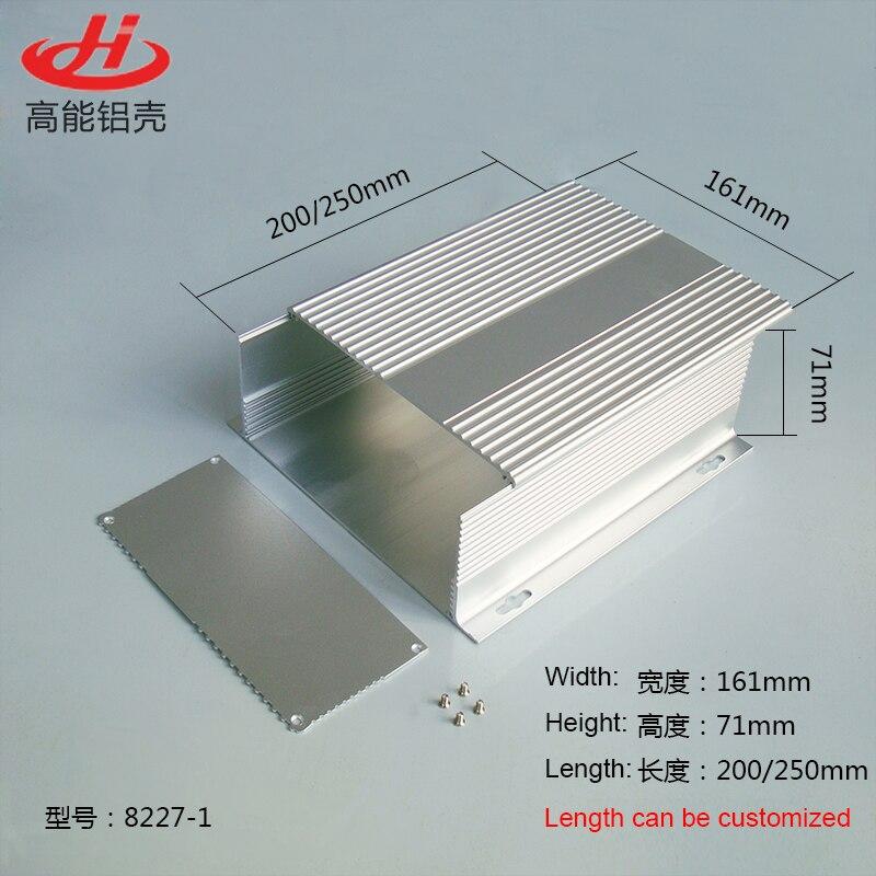 1 Piece Slive Color Aluminum Housing Case For Electronics Project Case 161*71*155/200/250mm 8227-1