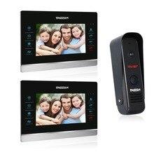 Tmezon 7 pulgadas tft monitor en color 1200tvl cámara de vídeo teléfono de puerta de intercomunicación 2v1 sistema de altavoces a prueba de agua visión nocturna por infrarrojos de seguridad