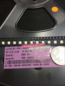 Image 1 - 1000pcs LUMEN LED Backlight 1W 3V 3535 3537 Koel wit LCD Backlight voor TV TV Toepassing A129CECEBP18A 2092 LED