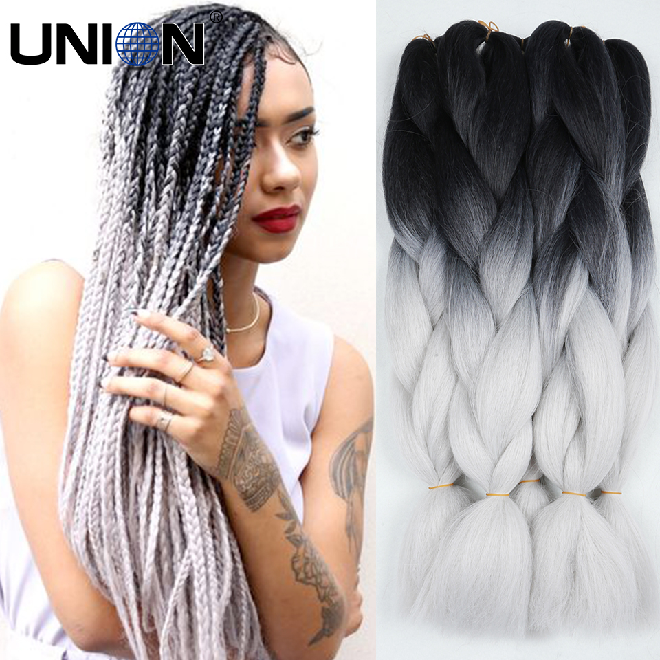 How to braid hair extensions yourself how to 100gram two tone box jumbo braid hair fashion new style synthetic pmusecretfo Image collections