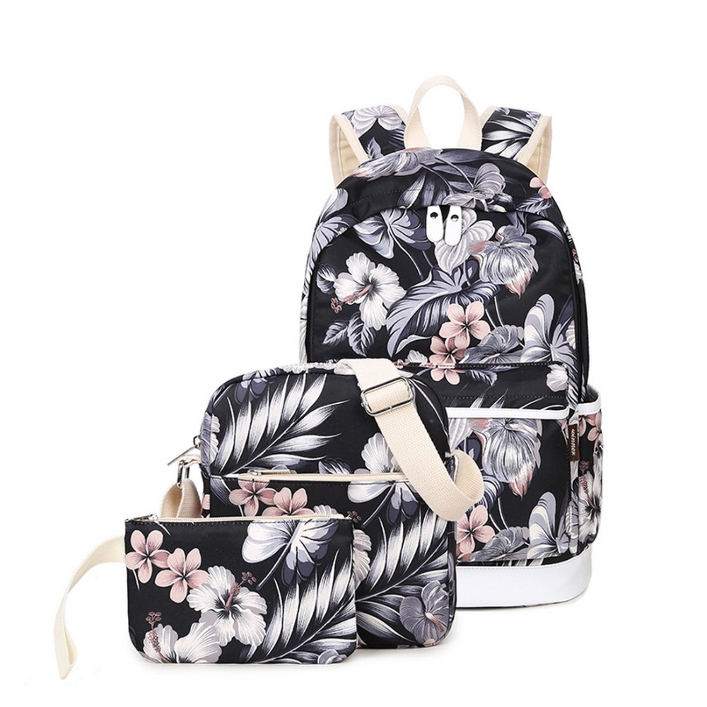 Girls Fashion School Backpack Set Lightweight Teen Girls Cute Backpacks Shoulder Bags Pen Bag Backpack Set 3 Pieces for Women fashion girls pet hand bag brooch set