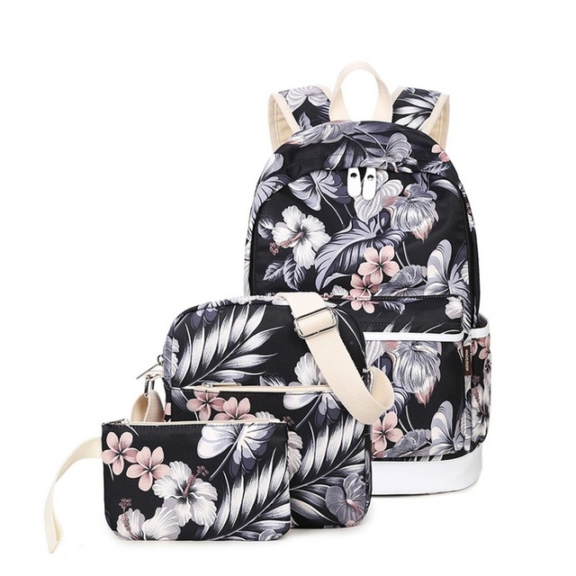 Girls Fashion School Backpack Set Lightweight Teen Girls Cute