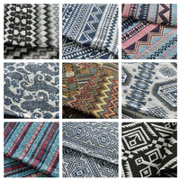 Fashion Chinese Country Style Yarn Dyed Fabric Lijiang Fabric For Garment Sewing Jacquard Fabric Diy Accessories