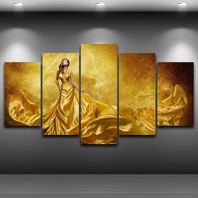 Canvas Oil Painting Home Decor Wall Art Framed Pictures 5 Panel ...
