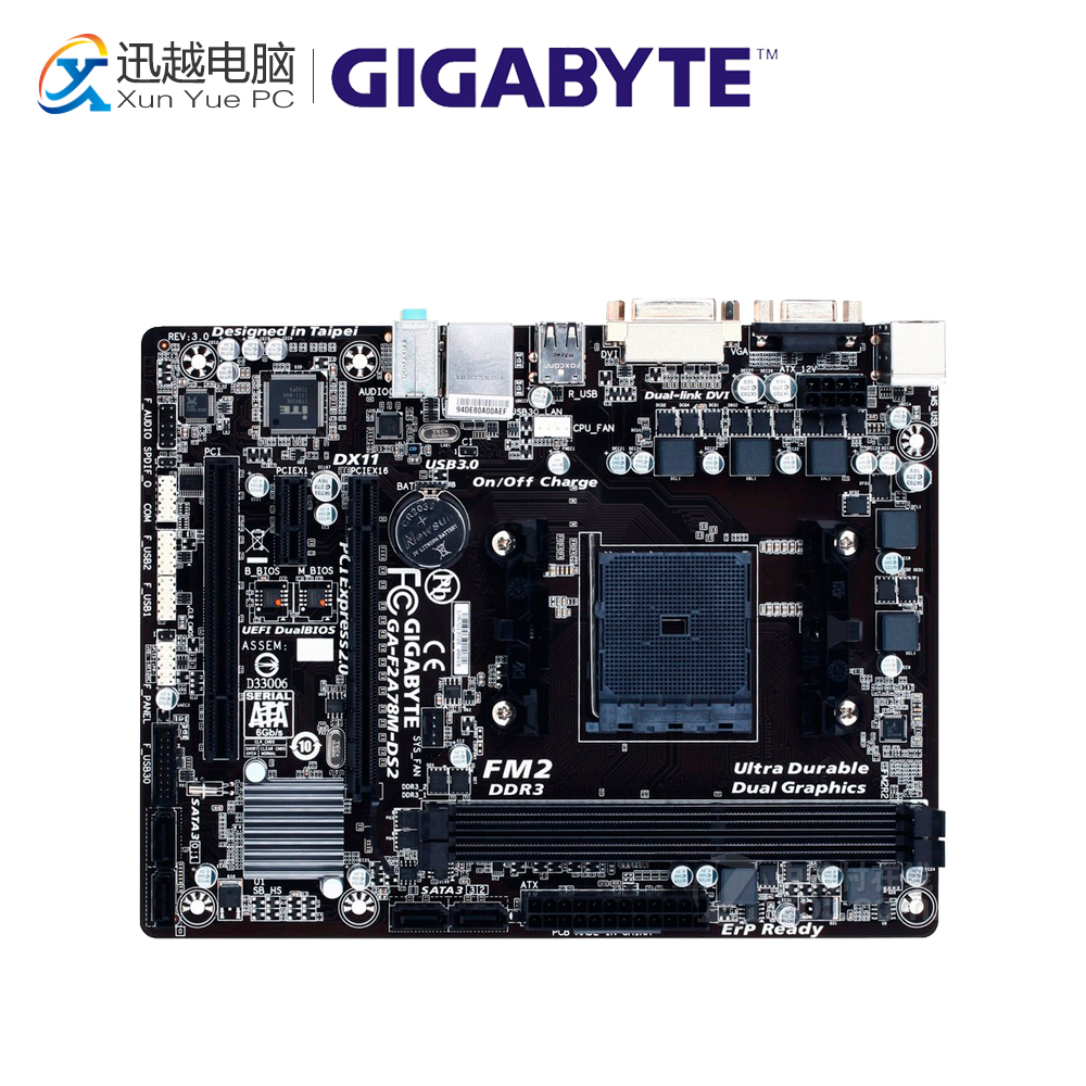 Gigabyte GA-F2A78M-DS2 Desktop Motherboard F2A78M-DS2 A78 Socket FM2 64G DDR3 SATA3 USB3.0 Micro ATX silica melting melt cauldron crucible dishes pot casting for gold silver platinum refine inside diameter 45mm height 22mm