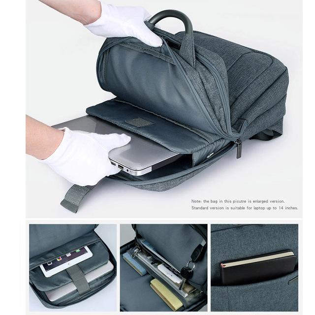"""Hanke Laptop Backpack 15.6"""" Men Casual College Backpack Female Women Schoolbags Teenage Capacity Travel Business Rucksack H6505"""