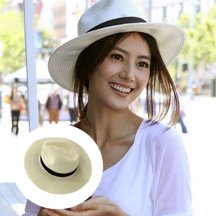 Selfs la bouche petit poivron Coréenne version Angleterre chapeau de paille femmes tous aller avec d'été loisirs parasol plage vacances grande combles