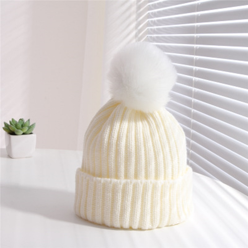 Retail Children Winter Hat For Girls Hat Knitted Beanies Cap 2-5 yrs Brand New Thick Baby boy Cap Baby Girl Winter Warm Hat